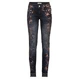Jeans mit Metallic-Print 82cm, dark blue