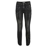 Jeans mit Schmucksteinen 72cm, dark grey