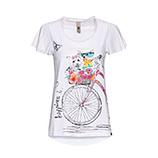 Shirt mit Front-Design, weiß