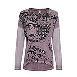 Shirt mit Metallic-Print , provence