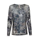 Shirt im Alloverprint und Glitzersteinchen, khaki