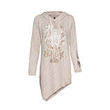 Strickshirt mit metallic-Optik, beige-melange