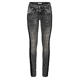 Sweat-Jeans mit Galonstreifen 80cm, dark grey