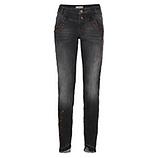 Jeans mit Metallic-Print 80cm, dark grey