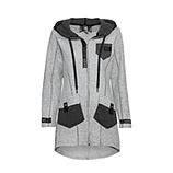 Jacke mit Walk-Wolle, grau-melange