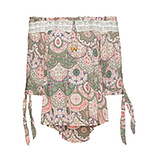 Bluse im Floral-Print, khaki
