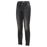 Jeggings mit Fransensaum, dark grey
