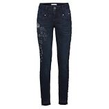 Jeans mit Glitzersteinen 76cm, dark blue