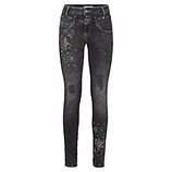 Jeans mit animal-Optik 78cm, dark grey