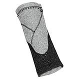 Handstulpen in Strick-Optik, grau-melange
