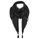 Schal mit Nieten, schwarz