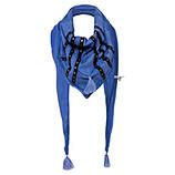 Schal mit Nieten, blue glow