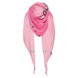 Schal mit Schriftzug, pink glow