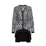 Bluse im Animal-Print, grau-schwarz