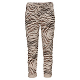 Hose im Alloverprint, beige