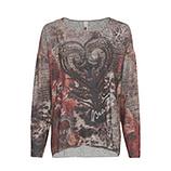 Shirt im Alloverprint, anthra