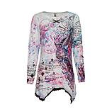Shirt im Alloverprint, weiss-pink glow-eiskristall