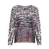 Shirt im Animal-Alloverprint, offwhite-pink