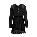 Shirt mit Georgette, schwarz