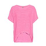 COSY Shirt mit Struktur, pink glow