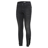 Jeggings mit Veggie-Leder, black