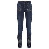 Sweat-Jeans, Doppelbund, dark blue denim