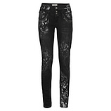 Sweat-Jeans mit metallic-Print 78cm, black