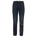 Schlupf-Jeans mit Ziersteinen 72cm, dark blue denim