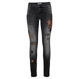 Jeans mit Patches, dark grey