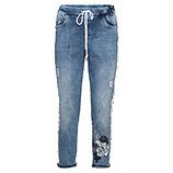 Schlupf-Jeans mit Galonstreifen 64cm, light blue denim