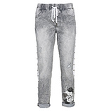 Schlupf-Jeans mit Galonstreifen 64cm, light grey denim