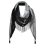 Schal mit metallic-Print, anthra-melange