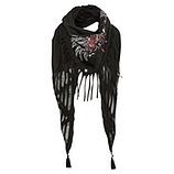 Schal mit Herz-Design, schwarz