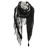 Schal mit Fransen, schwarz