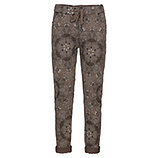 COSY Hose mit floralem Muster, taupe