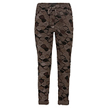 Baby-Cordhose mit Allovermuster, taupe