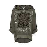 Bluse mit Animal-Patch, khaki