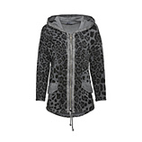 Sweat-Jacke im Animal-Alloverprint, eiffelturm