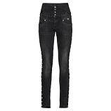 Sweat-Jeans mit hohem Bund 78cm, black