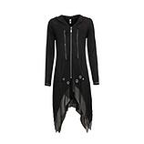 Shirt-Jacke mit Schmucksteinen, schwarz