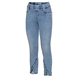Jeggings mit fransigem Saum 64cm, light blue denim
