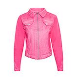 Jeansjacke mit Glitzersteinen, pink glow