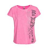Shirt mit Print, pink glow