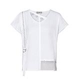 COSY Shirt mit Netz, weiß