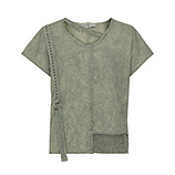 COSY Shirt mit Netz, salbei