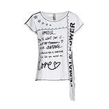 Shirt mit Schriftzügen, weiß