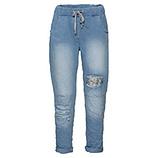 COSY Pant in Denim-Optik, light blue
