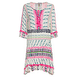 Kleid im Alloverprint, pink glow