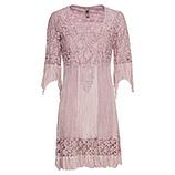 Kleid mit Floral-Spitze, rosenholz