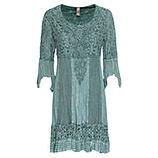 Kleid mit Floral-Spitze, sea salt